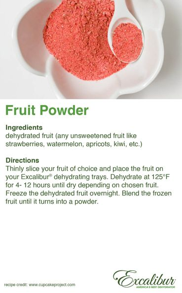 Get #Creative with Excalibur Dehydrators this #Holiday #Season! Make Holiday Themed Fruit Powder!