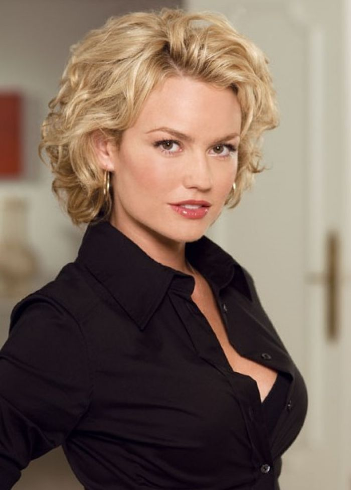 Blonde Curly Hairstyle Short Hairstyles 2013 Design 438x611 Pixel