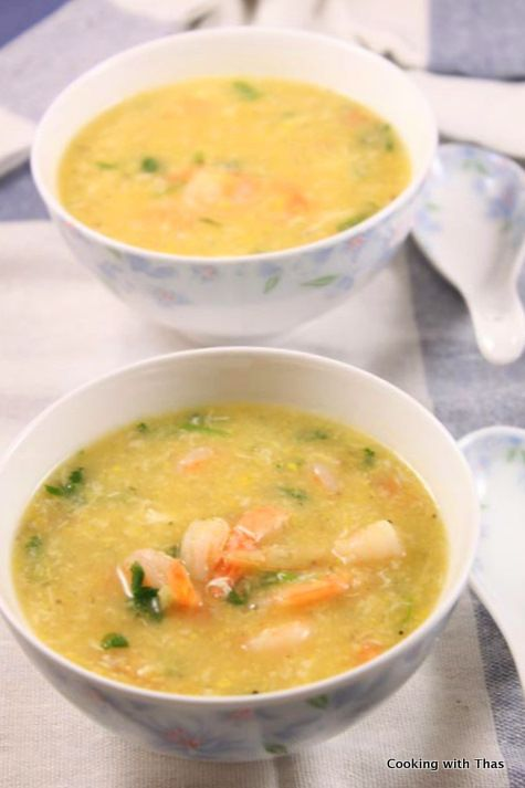 Shrimp Sweet Corn Soup – Indo Chinese Soup   Cooking with Thas