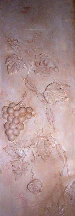 Raised Plaster Grape Vine and Plaster Mold by ElegantStencils