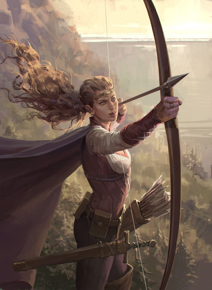 ArtStation – Card game characters — Archer and As…