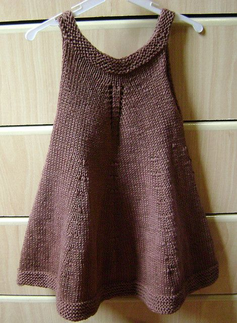 Dress Baby Knit.  Love this.  Can't find pattern info.