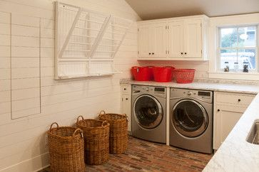The Meeting House - beach-style - Laundry Room - New York - Erica Broberg Smith Architect PLLC