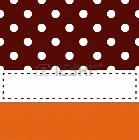 Thanksgiving frame in brown and orange. Vector background