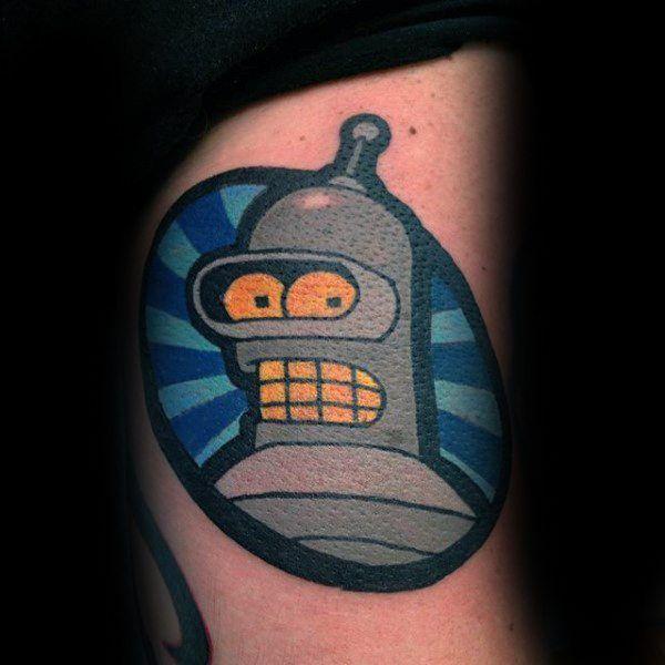 80 Futurama Tattoo Designs Fur Manner Animation Ink Ideen