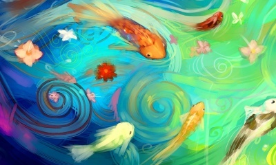 Fish, Flowers, Water (click to view)