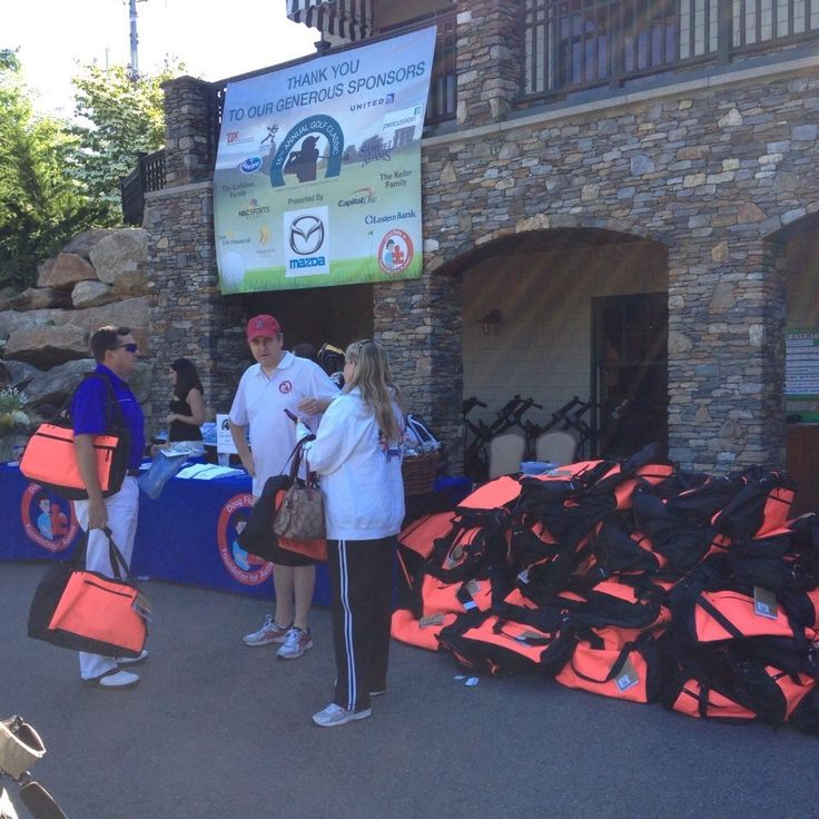 Registration at the Doug Flutie Jr Foundation Golf Outing in 2014 at Hopkinton Country Club.  www.hopkintoncc.com