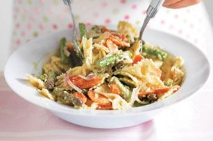 Pasta & Vegetables with Cilantro Sauce recipe