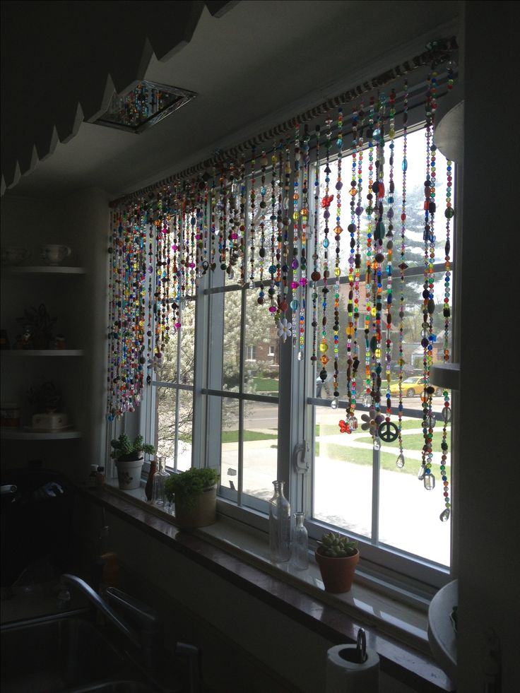 Beaded curtains love this project! Boho.