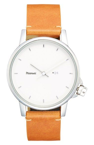 Miansai 'M24' Leather Strap Watch, 39mm available at #Nordstrom