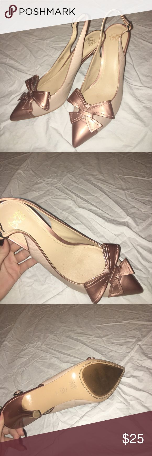 Joan & David nude and rose gold heels Joan & David nude heels with rose gold detailing. brand new, not even a single scuff! Joan & David Shoes Heels