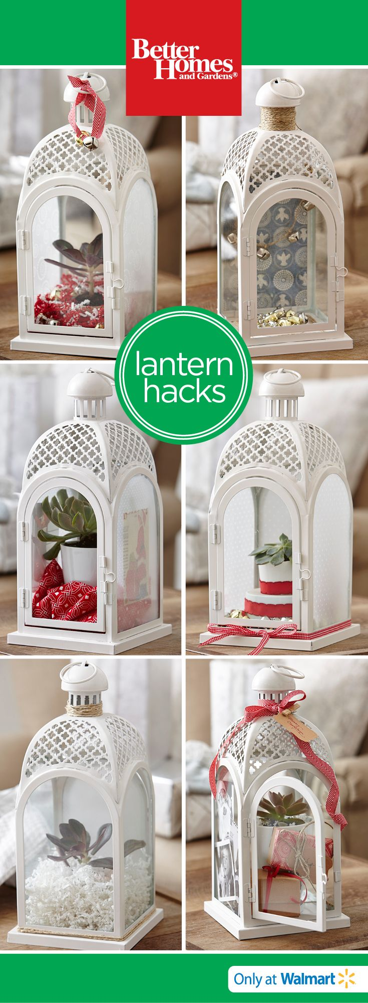 Fill a lantern with little gifts or decorate it as a centerpiece!