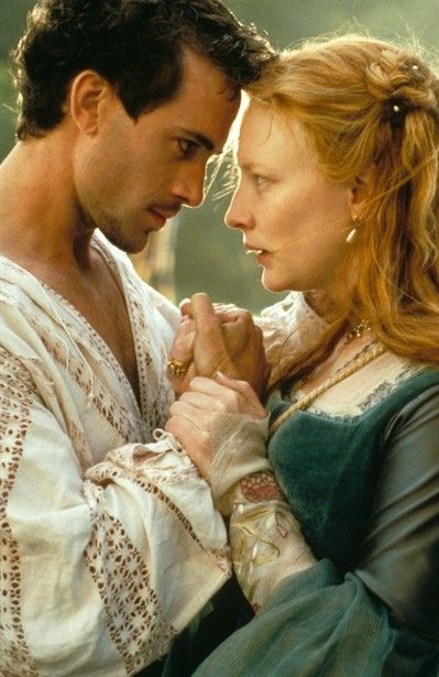 Joseph Fiennes and Cate Blanchett in 'Elizabeth' (1998) as Elizabeth and Robert. Costume designed by Alexandra Byrne.