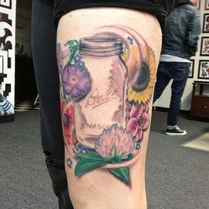 25 best ideas about mason jar tattoo on pinterest vintage drawing tattoo flash and coyote tattoo. Black Bedroom Furniture Sets. Home Design Ideas