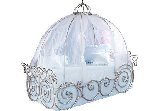 Disney Princess Carriage Bed ! Two Sizes ! Two Different Sheer Colors ! #Disney