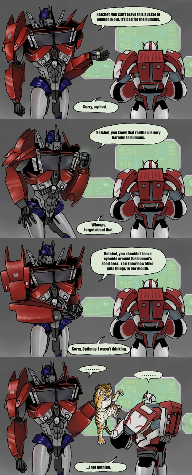 Ratchet is dangerous to humans by just-nuts And this is the bot who volunteers to stay on Earth...