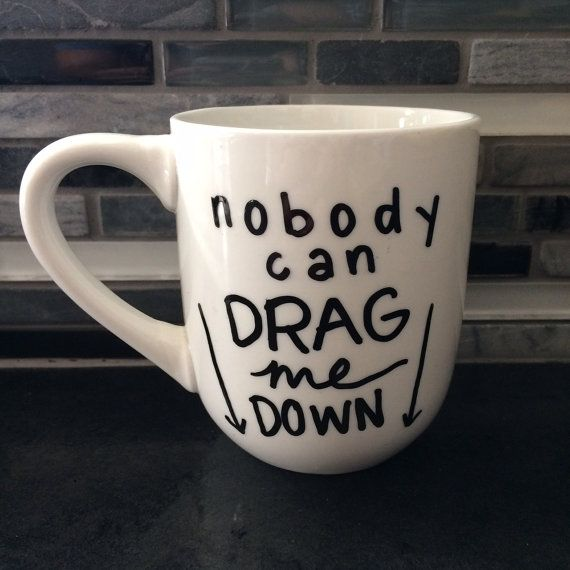 One Direction Drag Me Down Lyric Mug