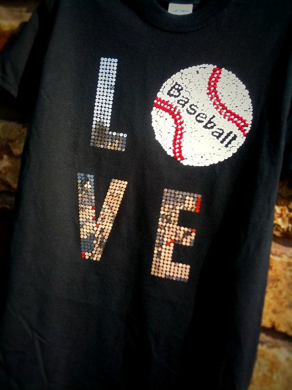 baseball love t shirt by Rocknmamadesigns on Etsy