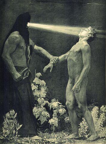 """= w o o d s = - Sascha Schneider, """"Hypnose,"""" 1904"""
