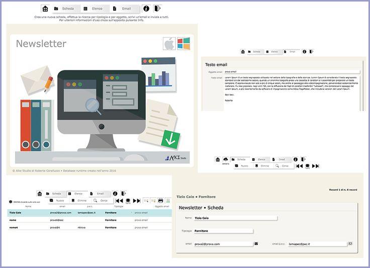 database Newsletter software disponibile gratuitamente nelle risorse gratuite del sito  www.alkestudio.it Facebook @alkestudiosalerno