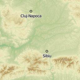 Zone montane și trasee turistice în România (pe baza datelor OpenStreetMap)