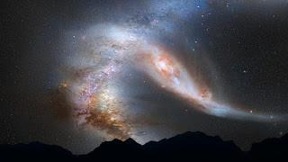 Tumbukan Raksasa Galaksi Bimasakti, Andromeda, dan Triangulum