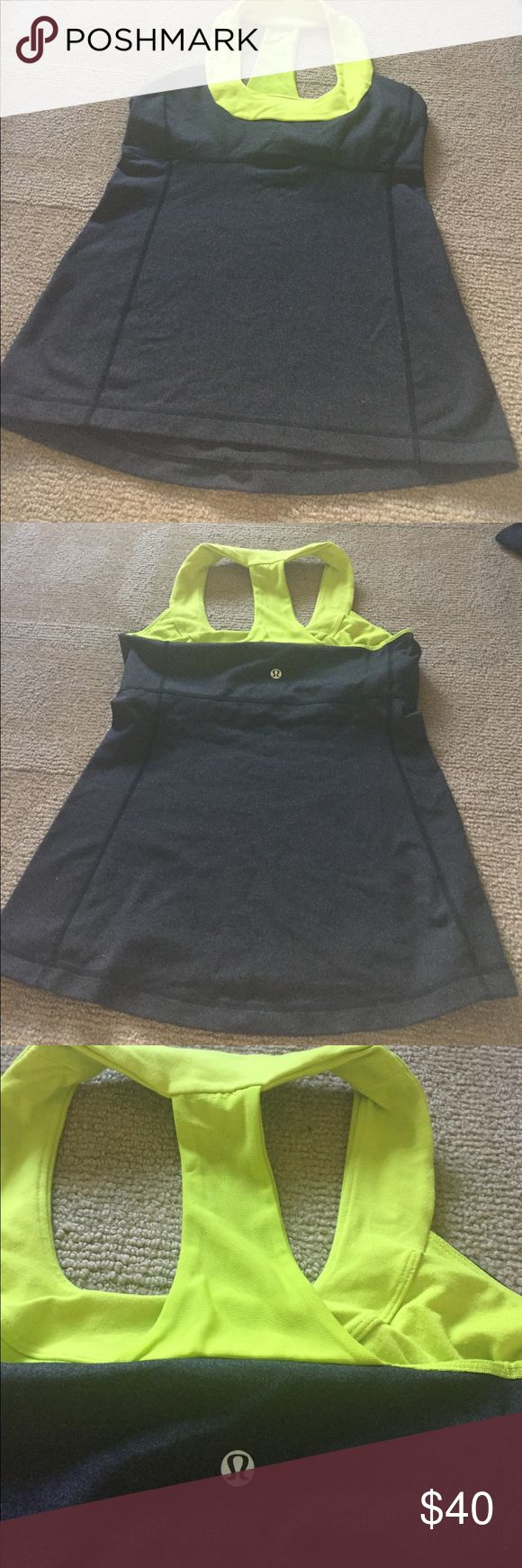 Lululemin tank with built in bra Hardly ever worn. Cute stylish and comfy! lululemon athletica Tops Tank Tops