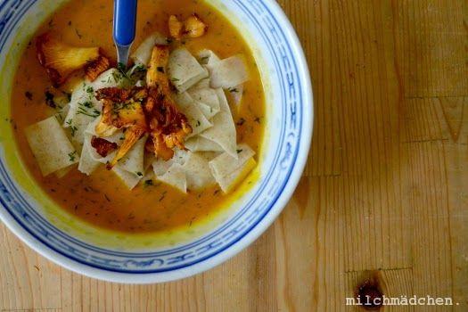 milchmädchen.: Hallo Herbst: Hokkaidosuppe mit Dill