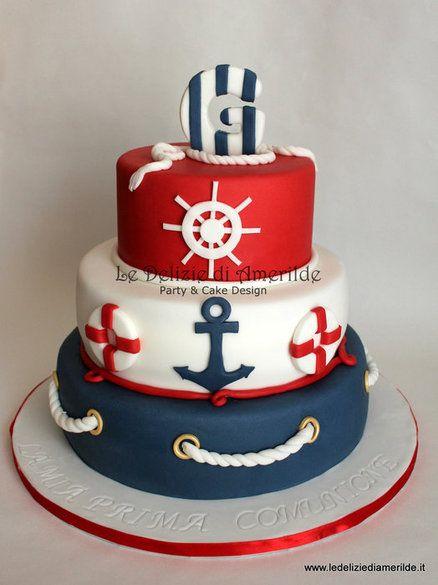 Gabriel Navy Style - by Amerilde @ CakesDecor.com - cake decorating website