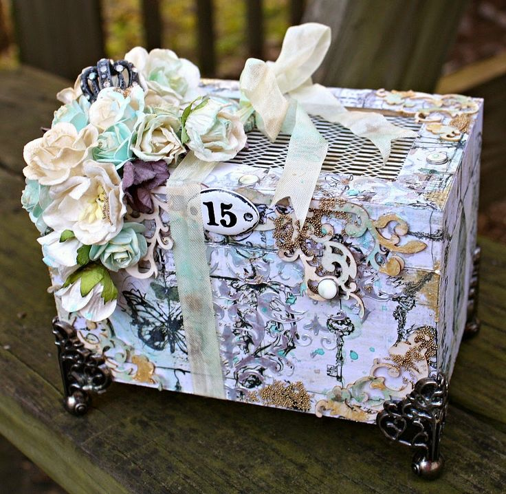 Mixed Media Altered Box for Wild Orchid Crafts