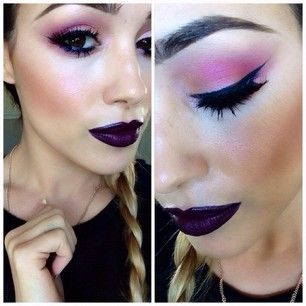 Nightmoth liner all over lips with sin lipstick by Mac