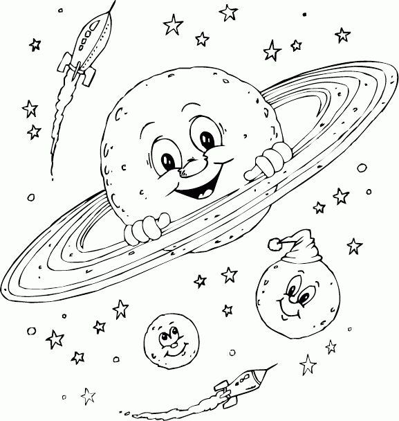 planet saturn coloring page - Coloring.com