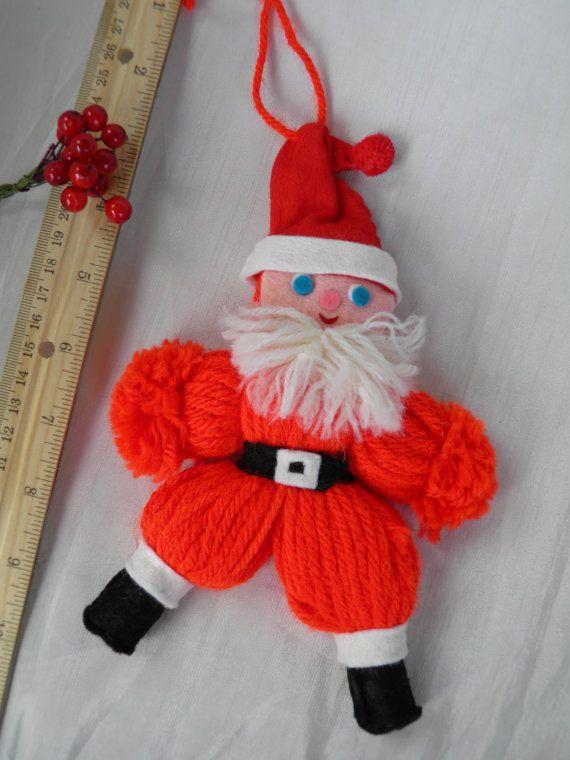 Santa Claus  Vintage Yarn Doll    Handmade by CurioGal on Etsy, $4.33