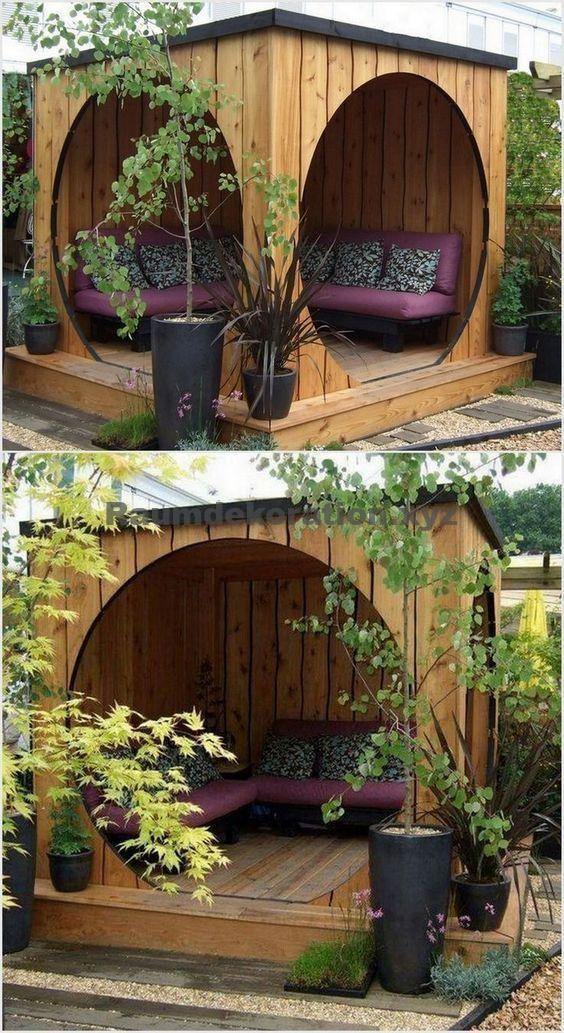 Room Decor – Atemberaubende 16 erstaunliche clevere Möglichkeiten, Ihren Garten mit Paletten einfach und s zu dekorieren – Marlen