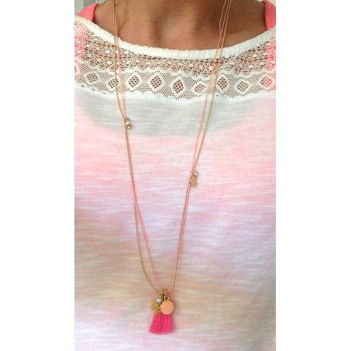 Necklace 'Dreams' - Pink - Mint15 www.mint15.nl