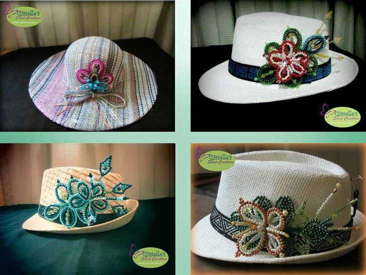 Sombreros panam decorados con tembleques cont ctenos a - Decoracion de sombreros ...