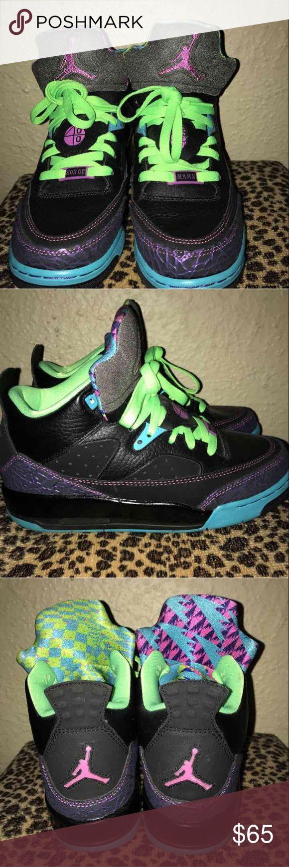 OBO retro Jordan's Pink green purple real Jordan's , light wear Air Jordan Shoes Sneakers