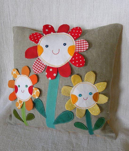 so cute flower pillow!