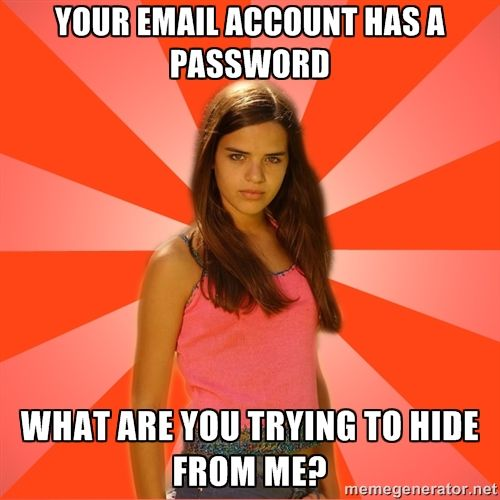 Your email account has a password -