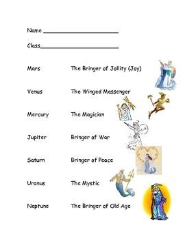"""The Planets,"" Holst: Elementary Music Lesson - Christine Larsen - TeachersPayTeachers.com"