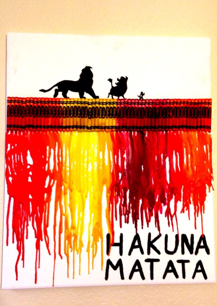 my absolute favorite melted crayon art that I made!  #crayonart #disney #LionKing