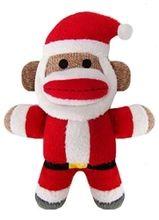 "Lulubelles Holiday Baby Santa Sock Monkey Jolly 7.5"""""
