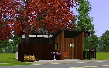 """Mod The Sims - Mini japanese style house """"Bus stop"""""""