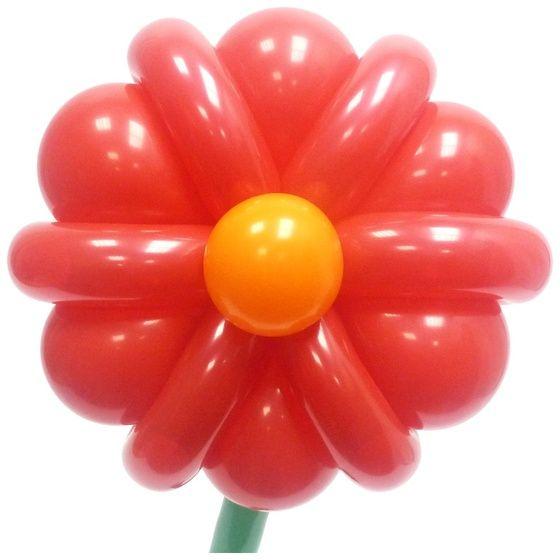 Простой Цветок из воздушных шаров