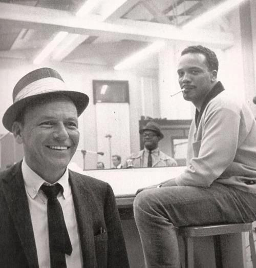 Quincy Jones & Frank Sinatra..  Cant Deny it. #Ikons #Music #Creators