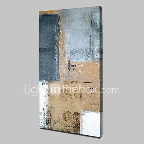 Pintados à mão Abstrato Vertical,Abstracto Modern 1 Painel Tela Pintura a Óleo For Decoração para casa de 2017 por R$828.94