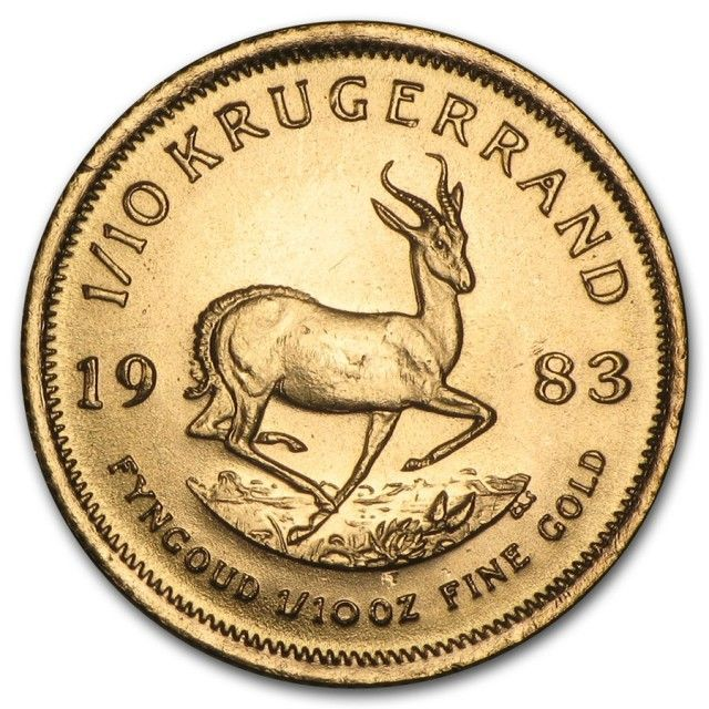 1983 1 10 Oz Gold Kuggerand Coin Gold Coin South Africa Gold Coin Kruggerand Gold Coin 1983 Gold And Silver Coins Gold Coins Gold Bullion Bars