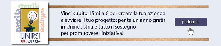 Il vincitore riceverà subito 15mila euro per creare un'azienda e avviare un nuovo progetto imprenditoriale nel Lazio, un anno di iscrizione gratuita ad Unindustria e tutto il sostegno per promuovere l'iniziativa