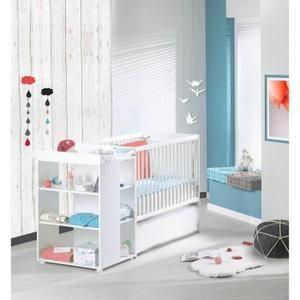 Lit combiné 60x120 cm transformable en 90x190cm - Tiroir de lit vendu séparemment (Réf EL891) - Dès la naissance - Garçon et Fille - Livré à l'unité