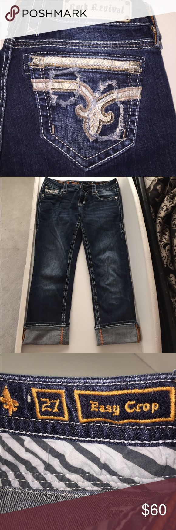 Nancy Crop Rock Revival Jeans In like new conditions with no flaws. These are a Capri or cropped cut :) soft and stretchy material. Make a reasonable offer ❤️ Rock Revival Jeans Ankle & Cropped